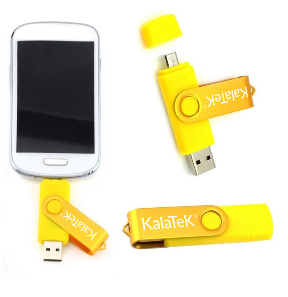 Kalatek Original Real 8gb Otg Swivel Micro Usb Flash Drive Dual Purpose For Pc Laptop Android Samsung Phones 100 Full Capacity In Drives From
