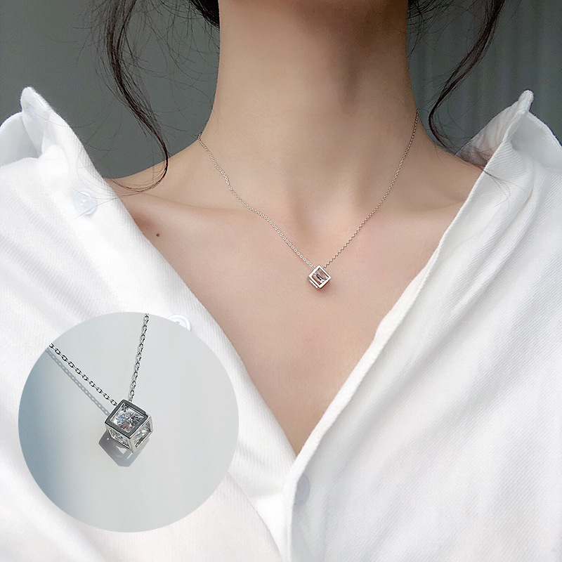 Модные крошечные изысканные ожерелья для женщин, ювелирные изделия, многослойные подвески с Луной и звездой, серебряный цвет, колье с крестом, этнический подарок для девушки - Окраска металла: Zircon in the box