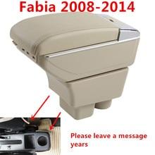 Для Skoda Fabia 2008-2014Armrest Box Car центр хранения коробка с подстаканником подлокотник вращающийся автомобиль-Стайлинг Аксессуары для интерьера
