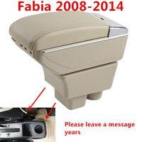 Skoda Fabia için 2008 2014Armrest Kutusu Araba Merkezi saklama kutusu Bardak Tutucu Ile Kol Dayanağı Dönebilen araba styling Iç Aksesuarları Kol Dayanağı    -