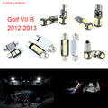 11 unids led canbus luces interiores kit package para volkswagen vw golf vi r (2012-2013)