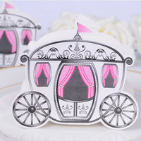 50 CÁI Mini Lọ Lem Enchanted Carriage Công Chúa Pumpkin Giấy Hôn Nhân Wedding Party Kẹo Box Favor Hộp Quà Tặng Nguồn Cung Cấp Bên
