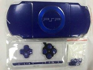 Image 1 - Niebieski kolor dla PSP 2000 PSP2000 wymienny pad do konsoli do gier pełna obudowa obudowa na telefon z zestaw przycisków