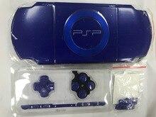 블루 컬러 psp 2000 psp2000 게임 콘솔 교체 전체 하우징 셸 커버 케이스 버튼 키트