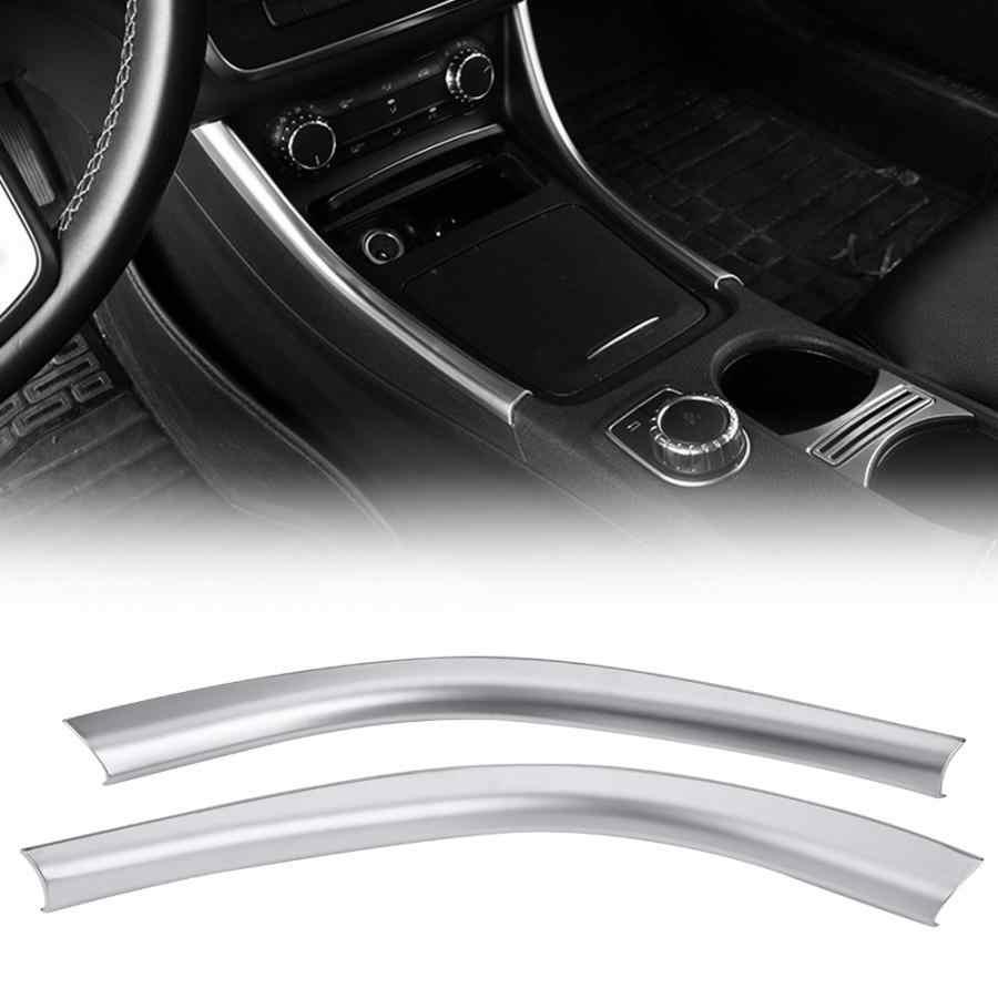 2 piezas coche CENTRO DE LA Lado de Control decorativo etiqueta Chrome para Mercedes Benz W176 La CIA C117 GLA X156 2014 2015, 2016, 2017, 2018