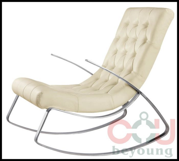 Stainless Steel Frame Rocking Chair Rocking Recliner Leather Lounge Chair  Fabric On Aliexpress.com | Alibaba Group