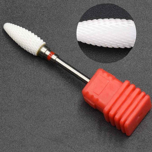 3/32″ Ceramic Nail Drill Bit For Pedicure Machine Electric Bits Manicure Mill Cutter Nail Tools Remove Acrylic Gel Nail Polish