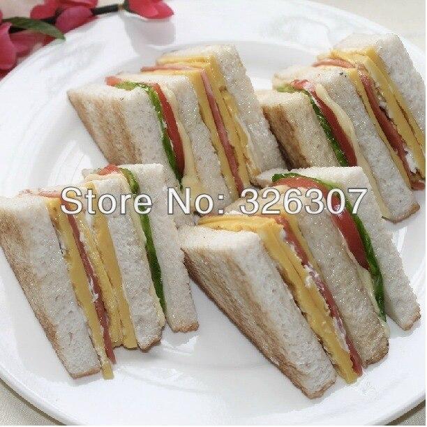Sandwich personnaliser alimentaire résine modèle sandwichs alimentaire modèle Sarnie simulation modèle montrer fenêtre échantillon Bacon tomate concombre salade