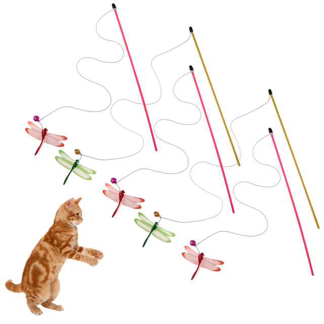 5 stücke Lustige Katze Stick Stick Kunststoff Stangen Draht Solide ...