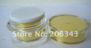 5g ACRYLIC GOLD cream bottle,cosmetic container,,cream jar,Cosmetic Jar,Cosmetic Packaging