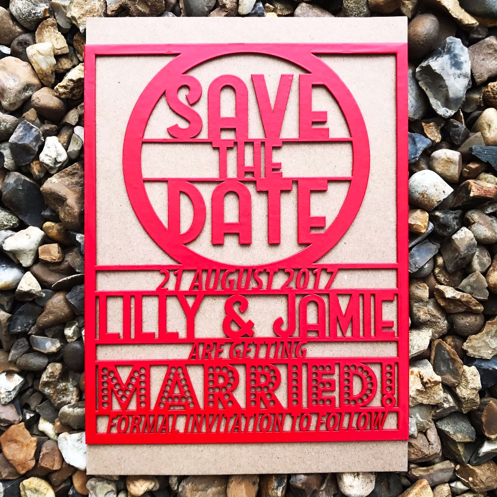 Personalized floral laser cut save the date, wedding save the date ...