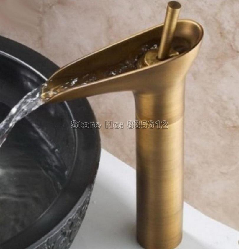 Sanitary Wares Waterfall Vessel Sink Faucet Countertop Single Handle