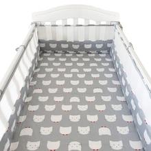 1 Pcs 180*30 cm Four Season Baby Bumpers Cartoon Newborns Cot Protector Cushion U/L Shape Crib Bumpers for Baby Bed Room Decor
