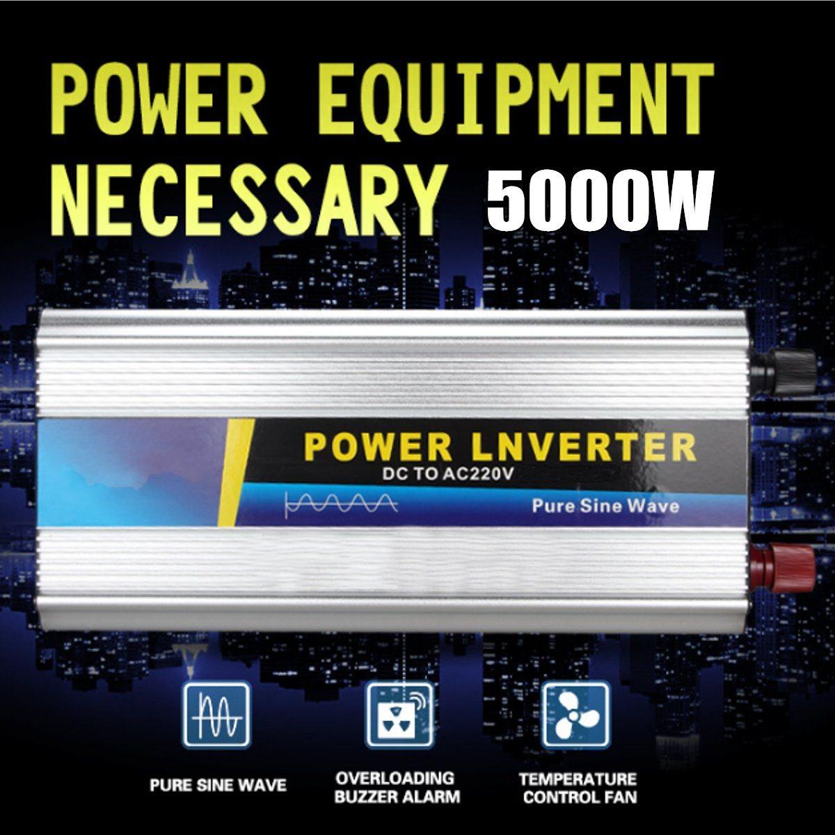 Peak 10000W Pure Sine Wave Inverter 5000w DC24 to AC220V 50HZ OFF Grid Inverter for Solar System Factory Price Good Quality