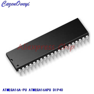 1pcs/lot ATMEGA16A-PU ATMEGA16APU ATMEGA16A ATMEGA16 DIP40 In Stock