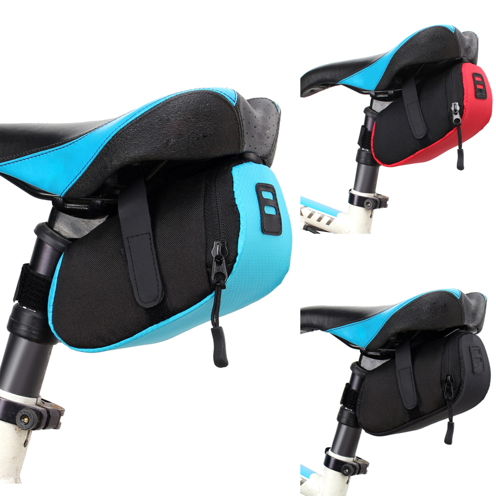 Outdoor Cycling Bicycle Seat Strap-On Bike Tail Rear Pouch Saddle Bag Red