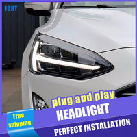 2PCS Car Style LED headlights for Ford Focus 2019 for Focus head lamp LED DRL Lens Double Beam H7 HID Xenon bi xenon lens