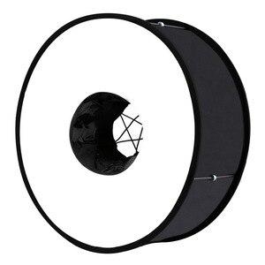 Image 2 - PULUZ 45 cm Ring Softbox Blitzgerät Runde Stil Flash Licht Schießen Weiche box Faltbare Weiche Flash Licht Diffusor