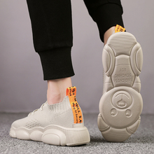 BIGFIRSE Fashion Shoes For Men Air Mesh Trend Light Man Fashion Sneaker Leisure Bear Shoes Zapatos Mujer 2019 Mens Casual Shoes