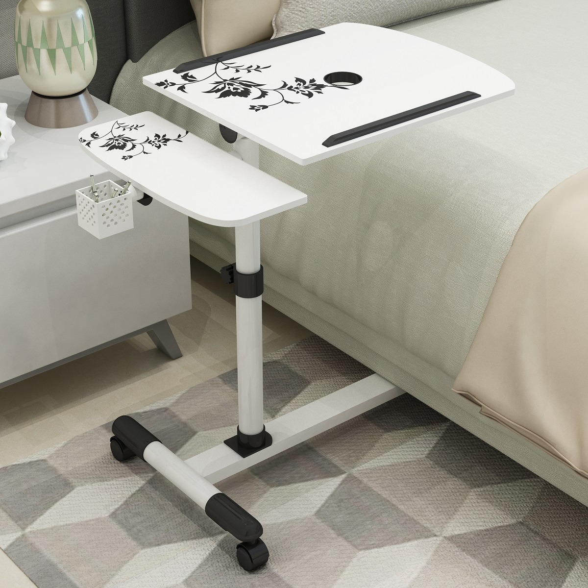 Laptop Table Computer Desk Foldable Computer Table Adjustable Portable Laptop Desk Rotate Laptop Home Sofa and Bed Table