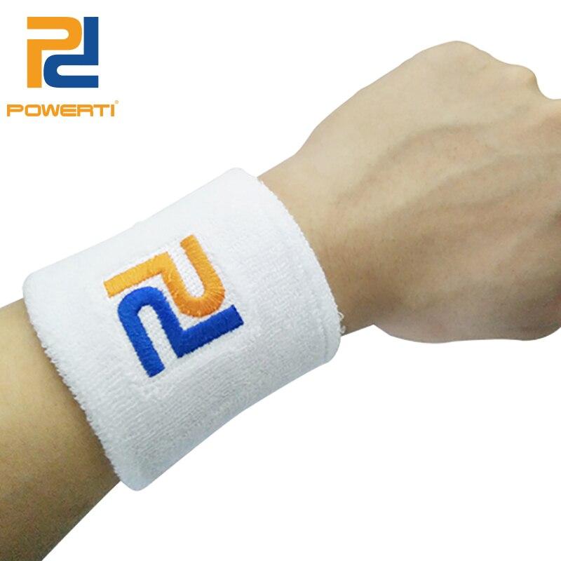 Powerti 6pcs/lot Short Gym Cotton Protector Wristbands Tennis Sweatband Sweat Wrist Suppor for Sport Badminton Basketball