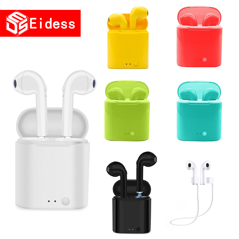 I7s TWS Mini Bluetooth Wireless Earphone Stereo Earbud Headset With Charging Box Mic All Bluetooth Tablet Smartphone