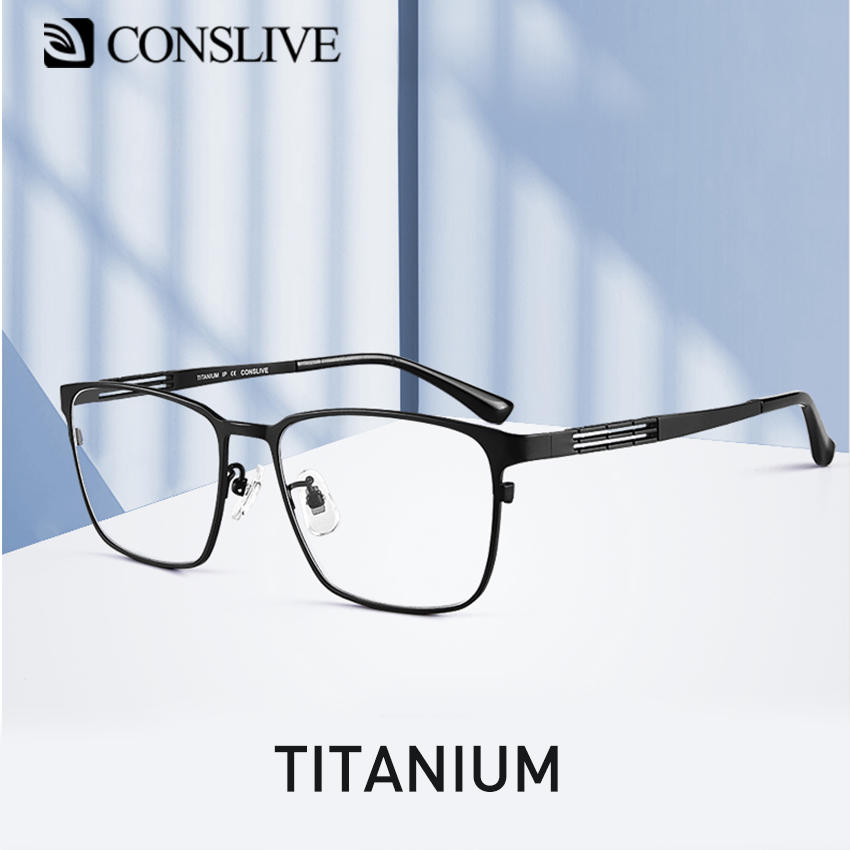 Titanium Glasses Frame Men Adjustable Optical Spectacles Dioptric Myopia Nearsighted Eyeglasses HT0072