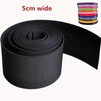 5CM Breite 10,94 Yards(10M)/Lot Schwarz Verdickung PP Gurtband Für Taschen Geflochtene Strap-Rucksack Gürtel