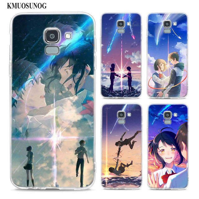 reputable site 8ed33 08b47 US $1.43 37% OFF|Transparent Soft Silicone Phone Case Japanese anime Your  Name For Samsung Galaxy j8 j7 j6 j5 j4 j3 Plus 2018 2017 Prime-in Fitted ...