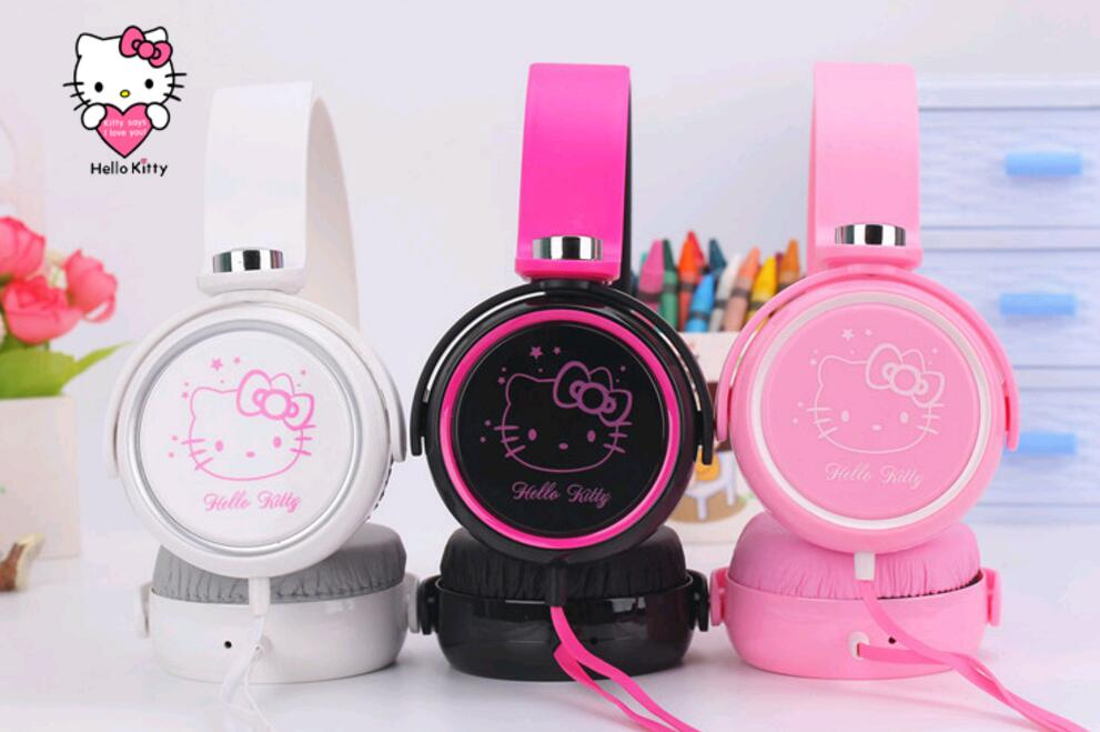 2018 New Cartoon Earphone Headset Cute Master Hello Kitty Headphones  For Iphone Samsung Xiaomi,  Headset
