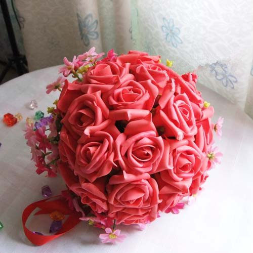 Supernova Sales Free Shipping Rose Flowers Bridal Hand Flower