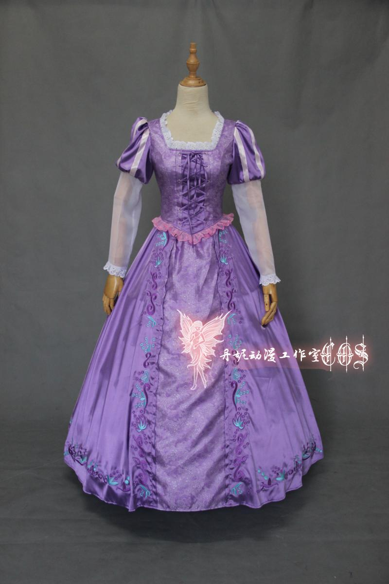 Anime Rapunzel Tangled New Adult Outfit Fancy Dress Cosplay Costume Princess Fairytale