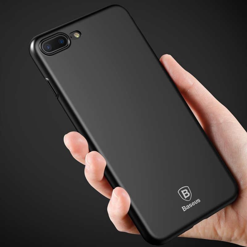 Baseus PC Cover for iPhone 7 Phone Cases for iPhone 7 8 Plus X Luxury Super Ultra Slim Smooth Plating Hard Plastic Silky Cover