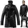 2015 Larga Sección Británica de Maj. líneas de ruptura la Zalea de Los Hombres hombres de la chaqueta de la Chaqueta de Moda guapo