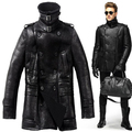 2015 Long Section British Maj. Bursting lines Sheepskin Men's fur jacket  Men's Jacket Fashion handsome