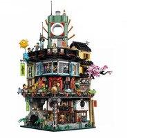 Lepin 06066 4953pcs Ninja Great Creator City Construction Model Modular Building Blocks Teenagers Toys Bricks Compatible 70620