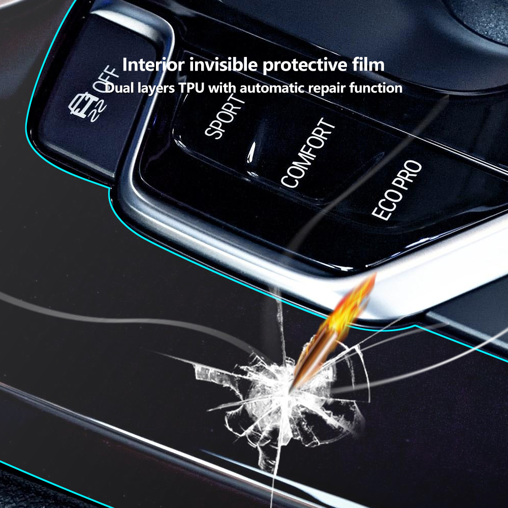 Anti Scratch Clear Car Interior Transparence Film Central Console Panel Kit Decoration Protective Sticker for BMW X3 g01 2018 in Automotive Interior Stickers from Automobiles Motorcycles