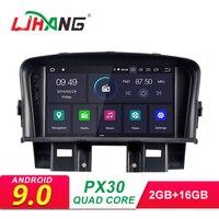 LJHANG 2 Din Android 9,0 автомобильный радиоприемник для CHEVROLET CRUZE 2008 2009 2010 2011 gps навигация мультимедийный плеер аудиосистема с WIFI FM