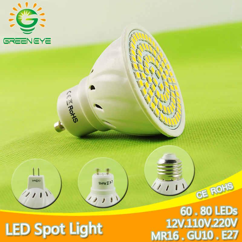 + + Яркий E27 E14 MR16 GU10 светодио дный лампы 5 Вт 6 Вт 8 Вт светодио дный Spotlight Bombillas GU5.3 пятно света лампада светодио дный лампы 110 В 12 В 220 В Lampara 9 Вт