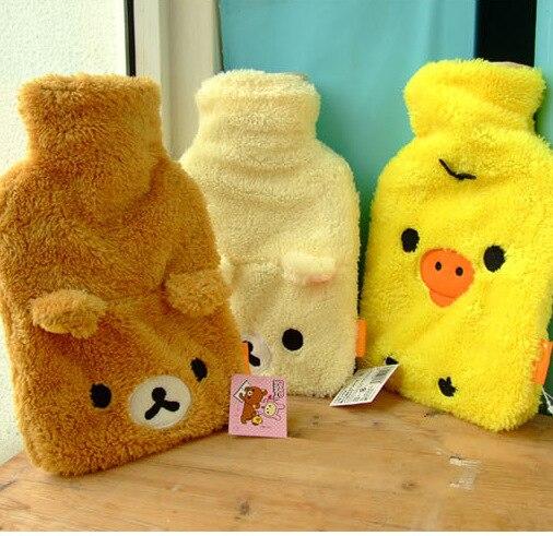 hot water bag Hand Feet Warming Hot Water Bottles Bags cartoon Plush warm bottle sets including filling tank