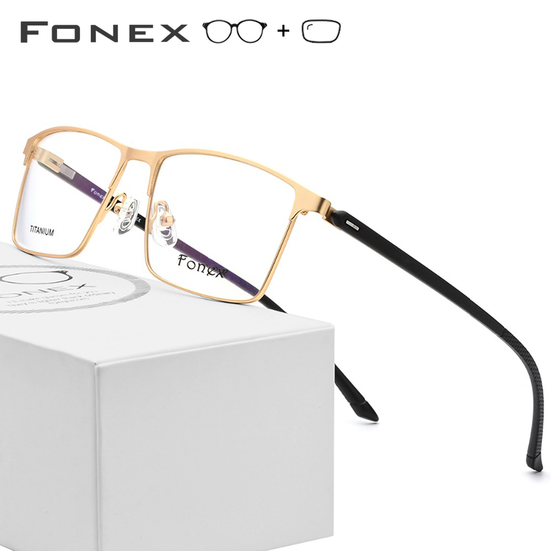 TR90 Titanium Alloy Prescription Glasses Men Square Myopia Optical Frame Men's Male Full Korean Prescription Eyeglasses 10018(China)