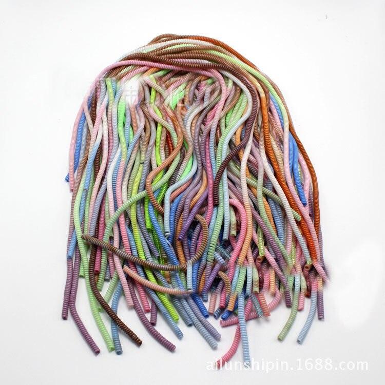 50 шт. 60 см градиент Цвет Твердые ТПУ Спираль USB Зарядное устройство кабель протектор <font><b>Wrap</b></font> намотки кабеля для IPhone Samsung кольцо волос