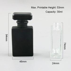Image 5 - 100pcs x 30ml 지우기 검은 유리 빈 향수 병 atomizer 스프레이 병 스프레이 상자 여행 크기 휴대용 가득 수 있습니다