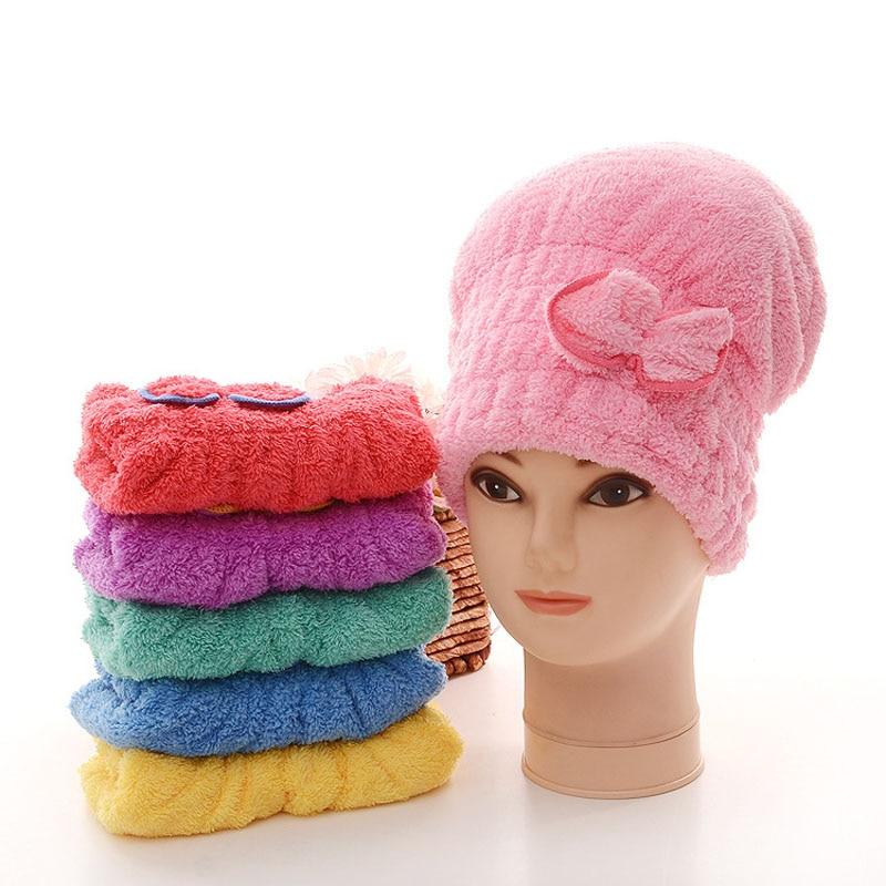 6 Warna Karang Kasmir Padat Rambut Turban Cepat Kering Topi Rambut Womens  Gadis lady Topi Handuk 552b6e7f8c