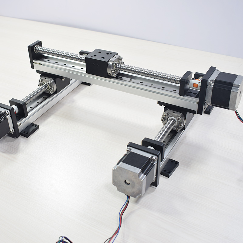 US $415 0 |RXS 42 XY Table Gantry Linear Module Robotic Arm Rod Ball Screw  Guide Sliding Table Motion Rail Actuator Motorized Router-in Linear Guides