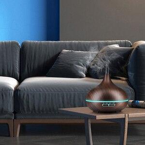 Image 4 - KBAYBO 300ml di Aria Umidificatore Diffusore di Olio Essenziale di legno del grano Aromaterapia diffusori Aroma purificatore MistMaker ha condotto la luce per la Casa