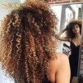 9A Pelo Virginal Indio Afro rizado Rizado de Alta Calidad Ombre Pelo Rizado Rizado 1b/4/27 de la Armadura Del Pelo Bunldes Indio Rizado Rizado