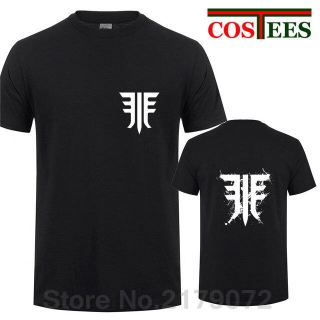f2935cbc628 2019 fashion Destiny 2 Forsaken Emblem Black Splats T shirts Men game T- Shirt geek white cotton camiseta male logo print t-shirt