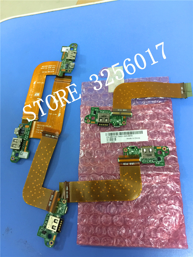 wholesale Original NEW for Dell for VENUE 11 PRO T06G t11g 5130 Tablet Charge Port PCB Board MLD-DB-USB 100% Work Perfectly