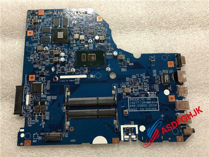 POUR Acer Aspire E5-773 N15W1 Ordinateur Portable Carte Mère AVEC I7-6500U 448.05802.001M 100% Parfait travail